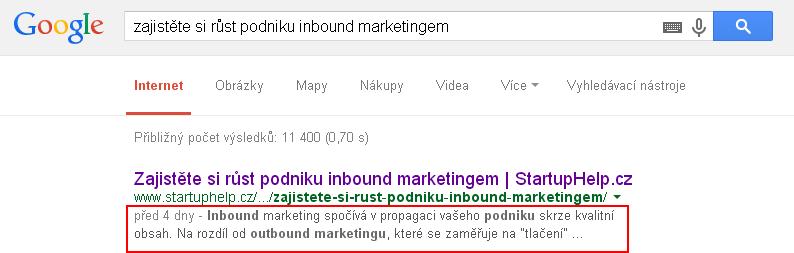 SEO_Vyhledávání - description