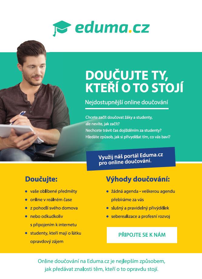 Eduma doučování online leták